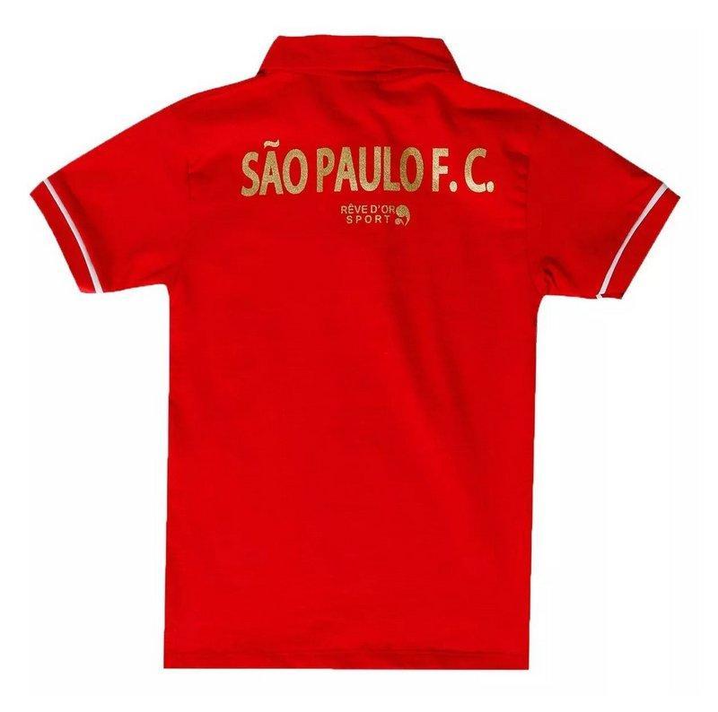 c86af6430e Camisa Polo Infantil São Paulo Vermelha Oficial - Revedor R$ 69,90 à vista.  Adicionar à sacola