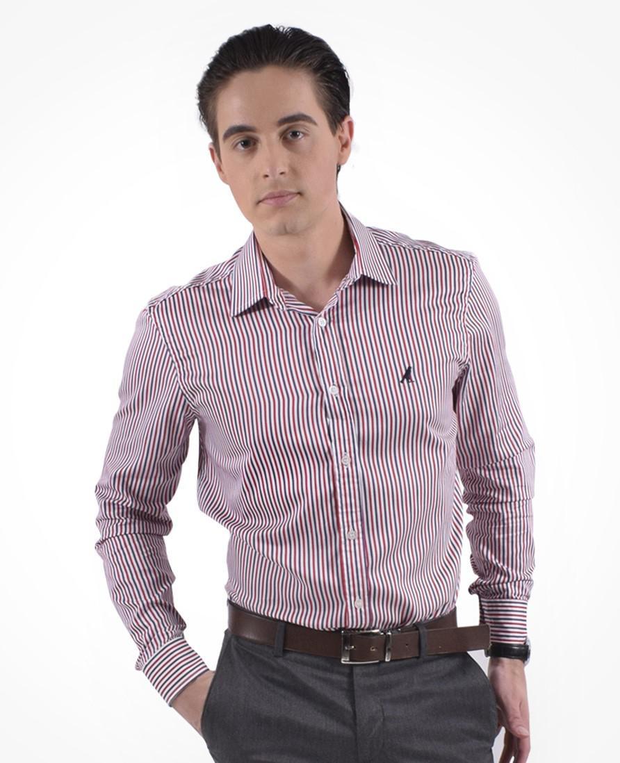 8c10c66508 Camisa Social Listrada Masculina Slim - Hórus oficial - Vestuário ...