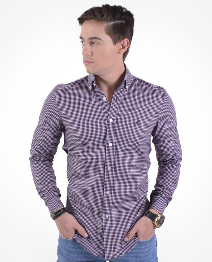 b00a494e2f Camisa Xadrez Masculina Slim Social Purpura - Hórus oficial R  159