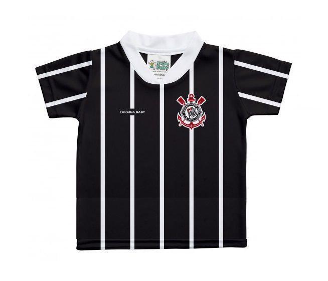 41e5e76640dc3 Camiseta Bebê Corinthians Listras Preta - Torcida Baby - Camiseta e ...