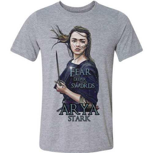 Descifrar Pilar Fruta vegetales  Camiseta Camisa Game Of Thrones Got Arya Stark Série Hbo - Vetor Camisaria  - Camiseta Feminina - Magazine Luiza