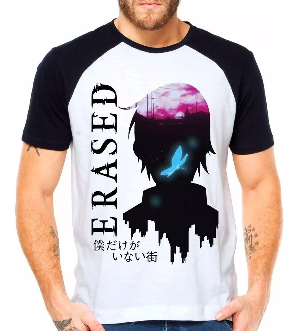 Camiseta Erased The Town Anime Boku Dake Raglan Manga Curta Eanime Camiseta Masculina Magazine Luiza