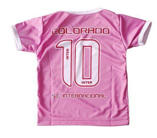 Camiseta Infantil Internacional Rosa Oficial Bebe Brasileiro Camisa De Time Magazine Luiza