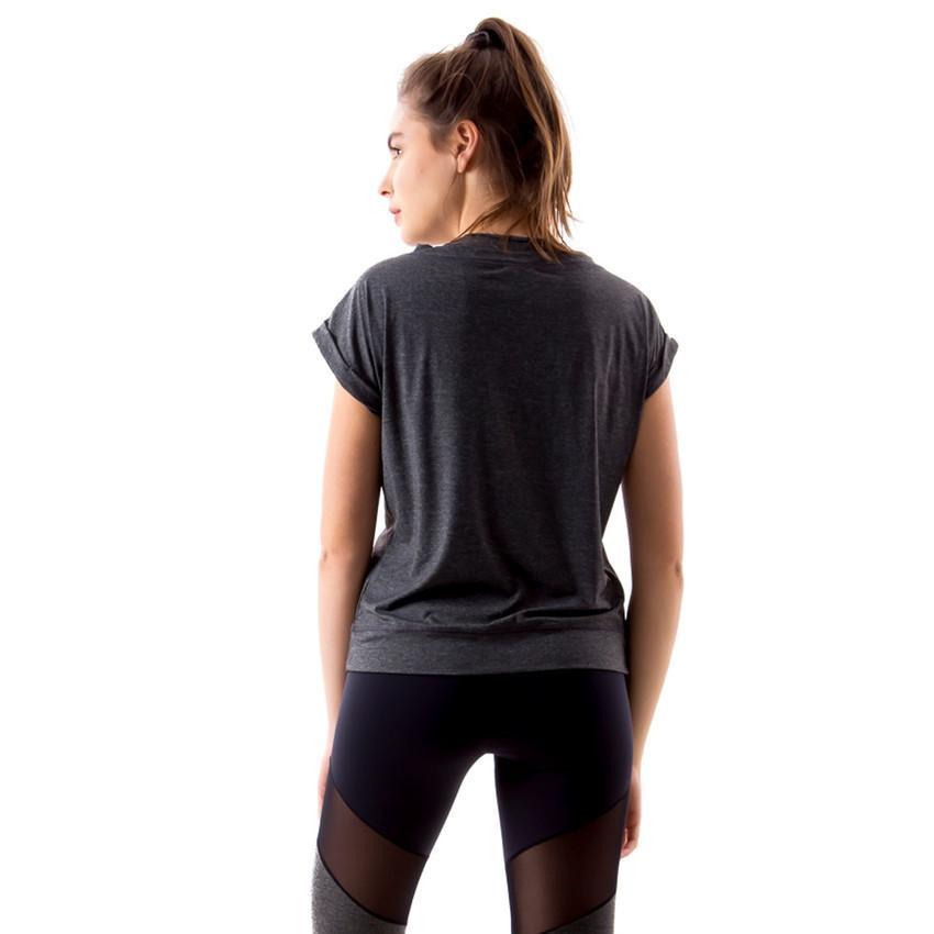 e35fc0c9d9 Camiseta Íon Fitness Feminina Mescla - Vestuário Esportivo ...