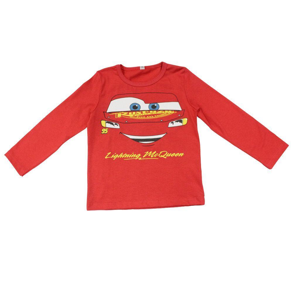 Camiseta Manga Longa em Meia Malha - Vermelha - Carros - Disney Produto não  disponível 487238a68ce4c