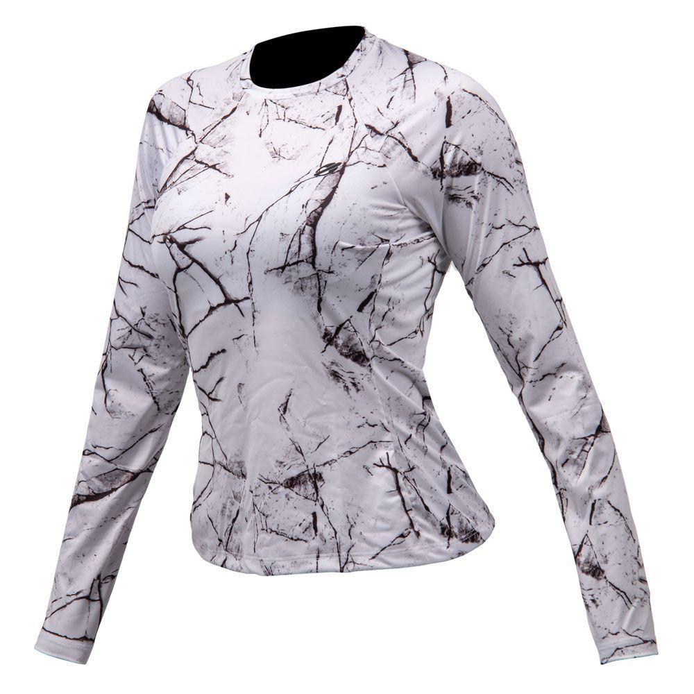Camiseta manga longa feminino dry action 2b uv mormaii branco-preto R   89 033df32d6d0