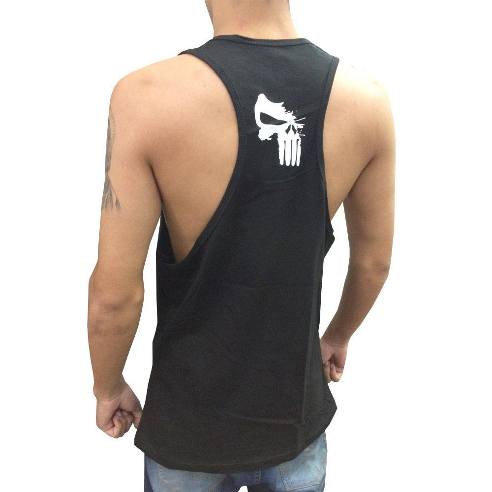 4c6c4d7735 Camiseta Regata Musculação - Ghost Rider - Preto Branco - Toriuk - Trk R   31