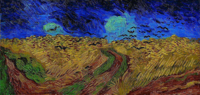 Campo De Trigo Com Corvos Vincent Van Gogh Tela 50x104 Para