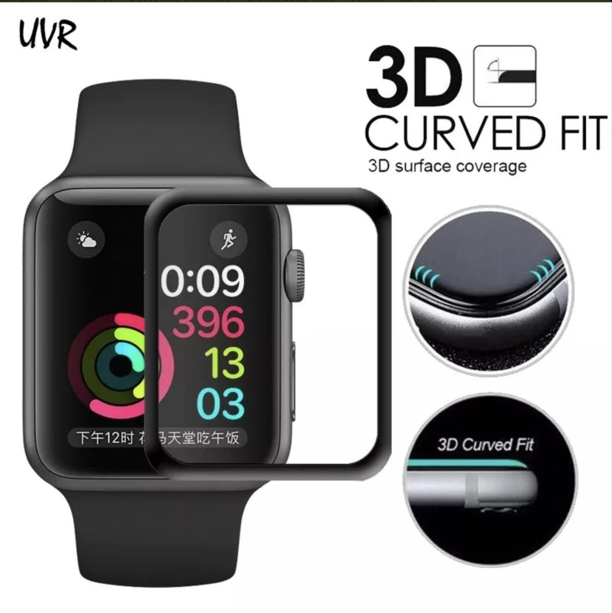 detailed pictures 89fbe e8da4 Capa Case Apple Watch 42mm Defense 360 X-Doria Clear Full com Pelicula 3D  Tela Inteira Premium