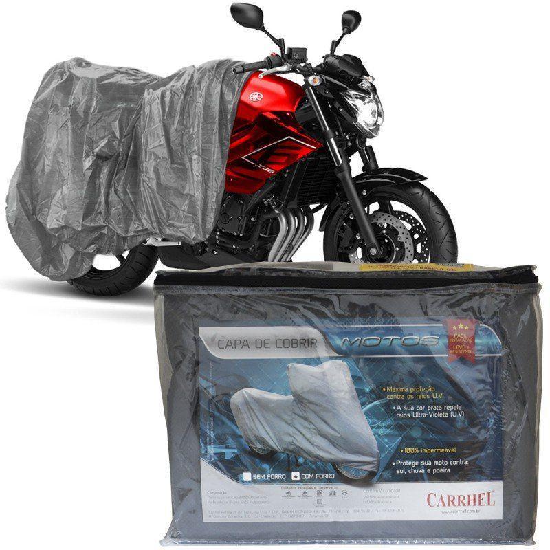 98ac5f894ea Capa Cobrir Moto Protetora Forrada Impermeável Anti Uv Tamanho M Carrhel R   31