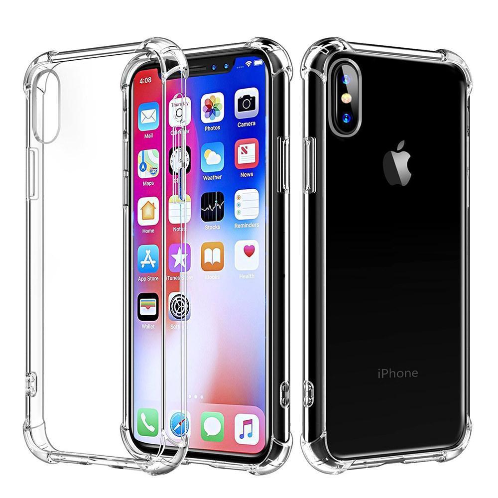 77221958ec8 Capa Iphone X Xs Transparente Anti Impacto Com Película De Vidro 3d C   Bordas - 25 R  59