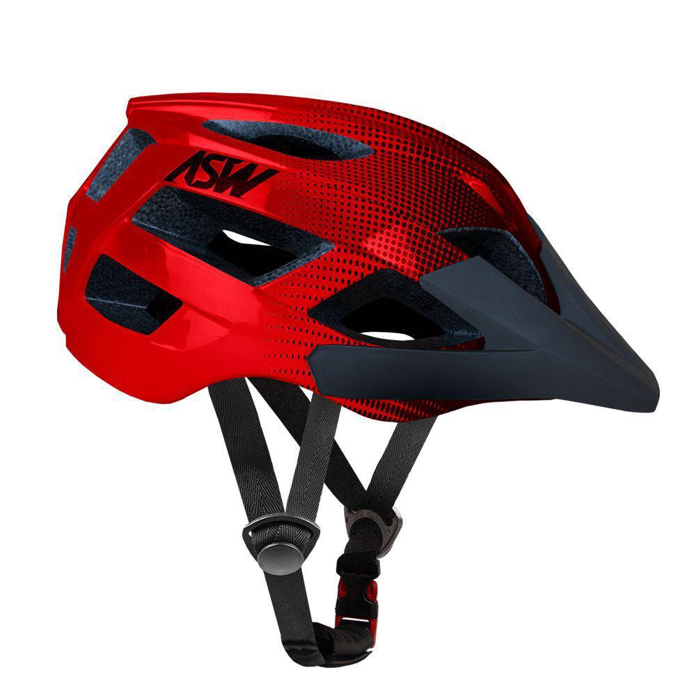Capacete ASW Bike Accel Dots Vermelho/Preto - Capacete Ciclismo - Magazine  Luiza