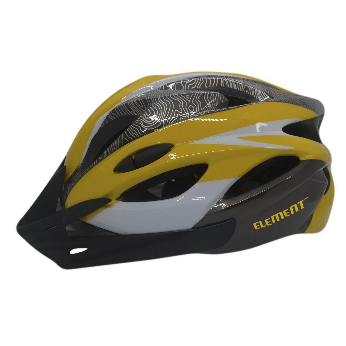 Capacete Ciclismo Element DG-041 C/ Led Adulto Grande Amarel - Capacete  Ciclismo - Magazine Luiza