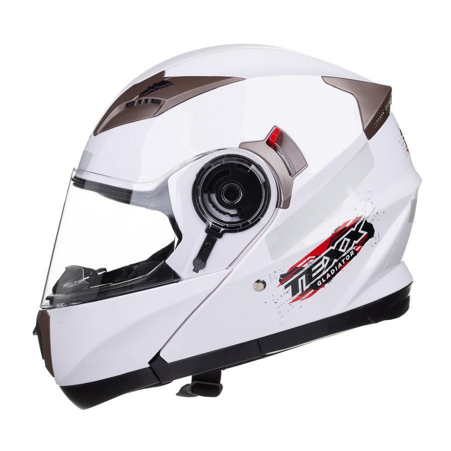 67654de3a Capacete Motociclista Texx Gladiator Articulado Branco R$ 589,90 à vista.  Adicionar à sacola