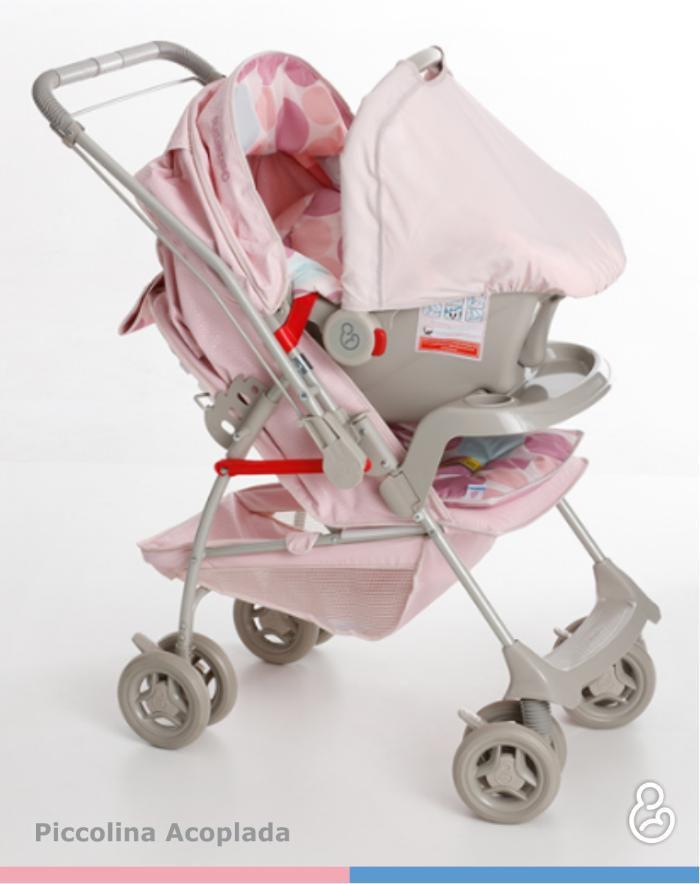 64b89a5158 Carrinho de Bebê Milano Reversível Rosa Bebê + Piccolina Galzerano Produto  não disponível