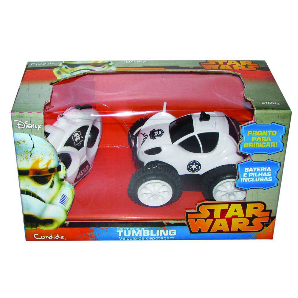 41974db2adc Carrinho de Controle Remoto - Star Wars Tumbling - Stormtrooper - Candide -  Disney Produto não disponível