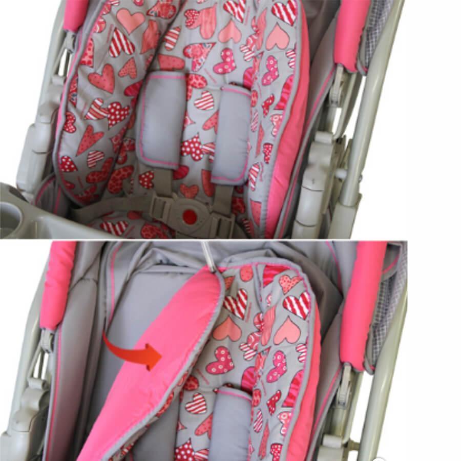 daab1f0805 Carrinho para Bebê Galzerano Até 15Kg Pegasus Grafite Preto Bege Produto  não disponível