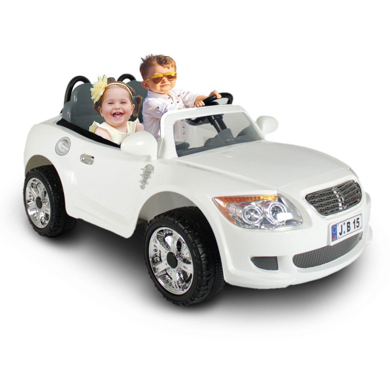 2b7fdc066b Carro Elétrico Carrinho Infantil Conversível Esportivo Branco 2 Lugares  Controle Remoto 12V - Bel fix R  2.889