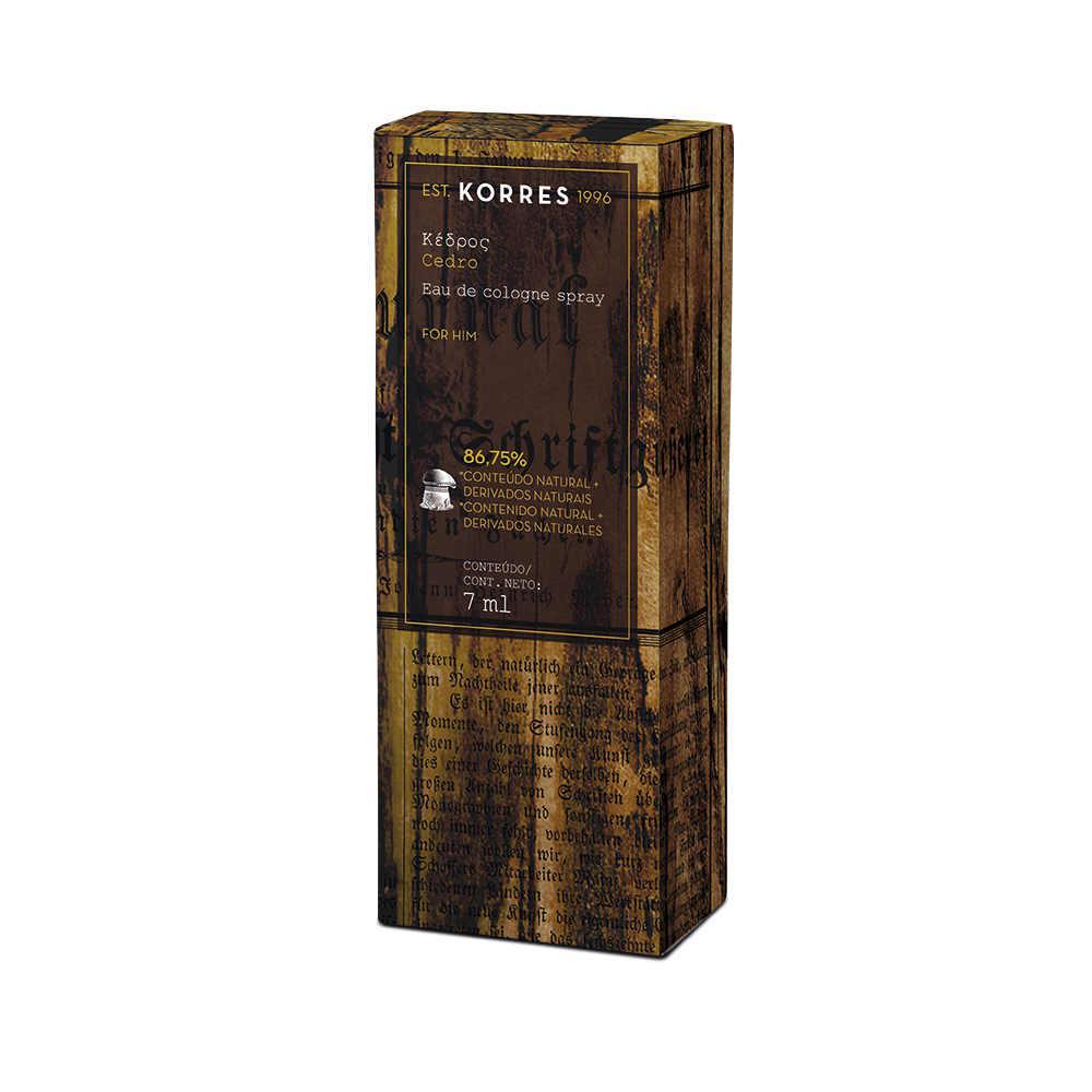 d55f68642 Cedro - Mini Eau de Cologne Masculina - Korres - Perfume Masculino ...