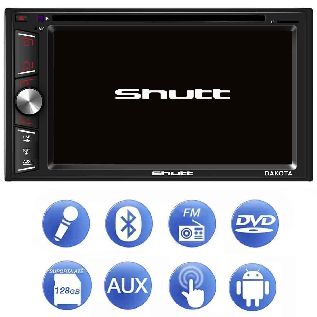 """505e56a34 Central Multimídia Shutt Dakota 6.2"""" Bluetooth Espelhamento + Moldura do  Painel 2 Din Linha Toyota R$ 508,90 à vista. Adicionar à sacola"""