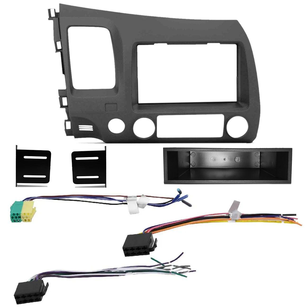 """5664481da Central Multimídia Shutt Dakota 6.2"""" Bluetooth Espelhamento USB MP3 + Moldura  Painel 2 Din New Civic R$ 613,90 à vista. Adicionar à sacola"""