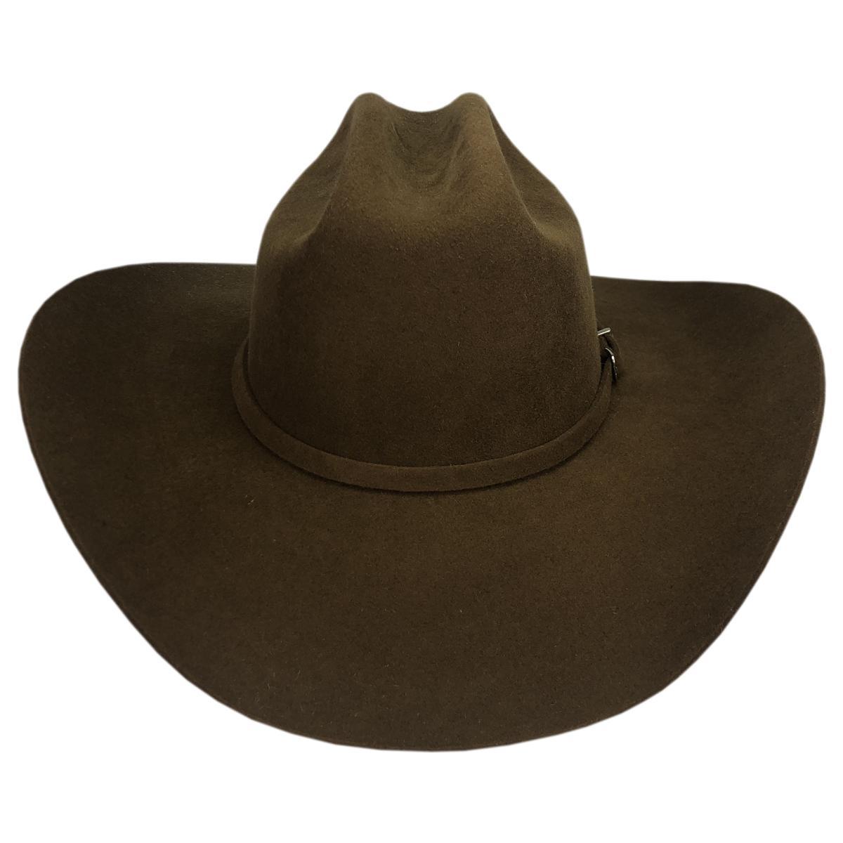 Chapéu americano lã marrom ref 401 tam g - a1p7lanmarrom - Chapéus mundial  R  166 3f61bf8e251