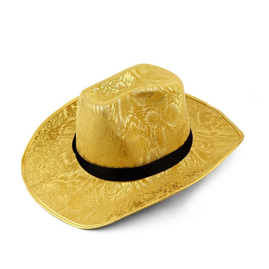 da33d47408fbe Chapéu de Cowboy Feminino Dourado - Festabox - Artigos para Festa -  Magazine Luiza