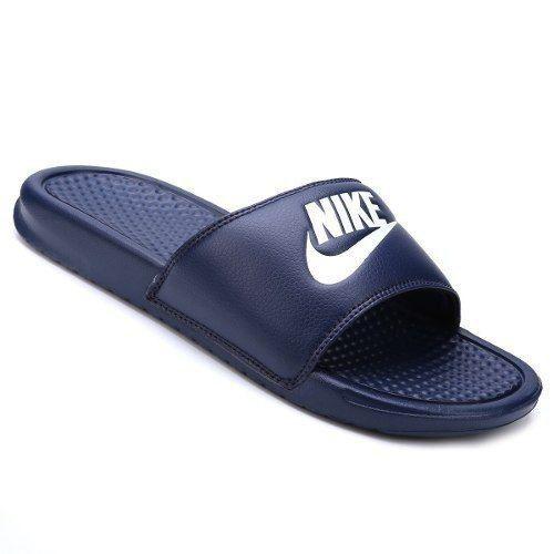 92d9be8f1365d Chinelo Nike Benassi Just Do It Masculino - Azul R$ 149,90 à vista.  Adicionar à sacola