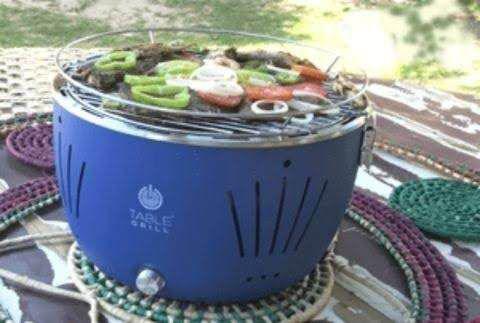 Churrasqueira De Mesa A Carvão Churrasco Table Grill Cor Azul Churrasqueira A Carvão Magazine Luiza