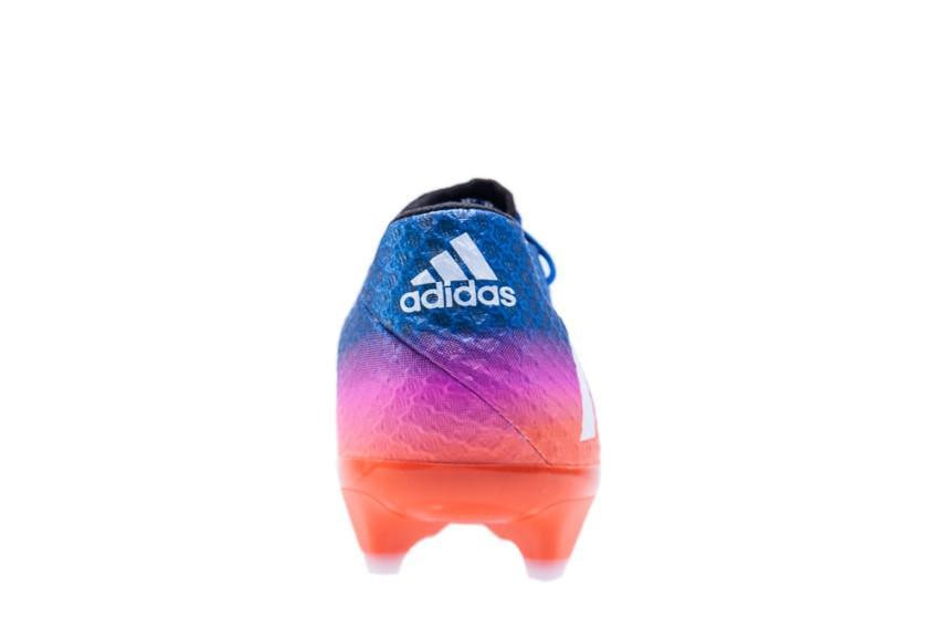 ed70123c541d1 Chuteira adidas messi 16.1 campo - azul e rosa R$ 624,90 à vista. Adicionar  à sacola