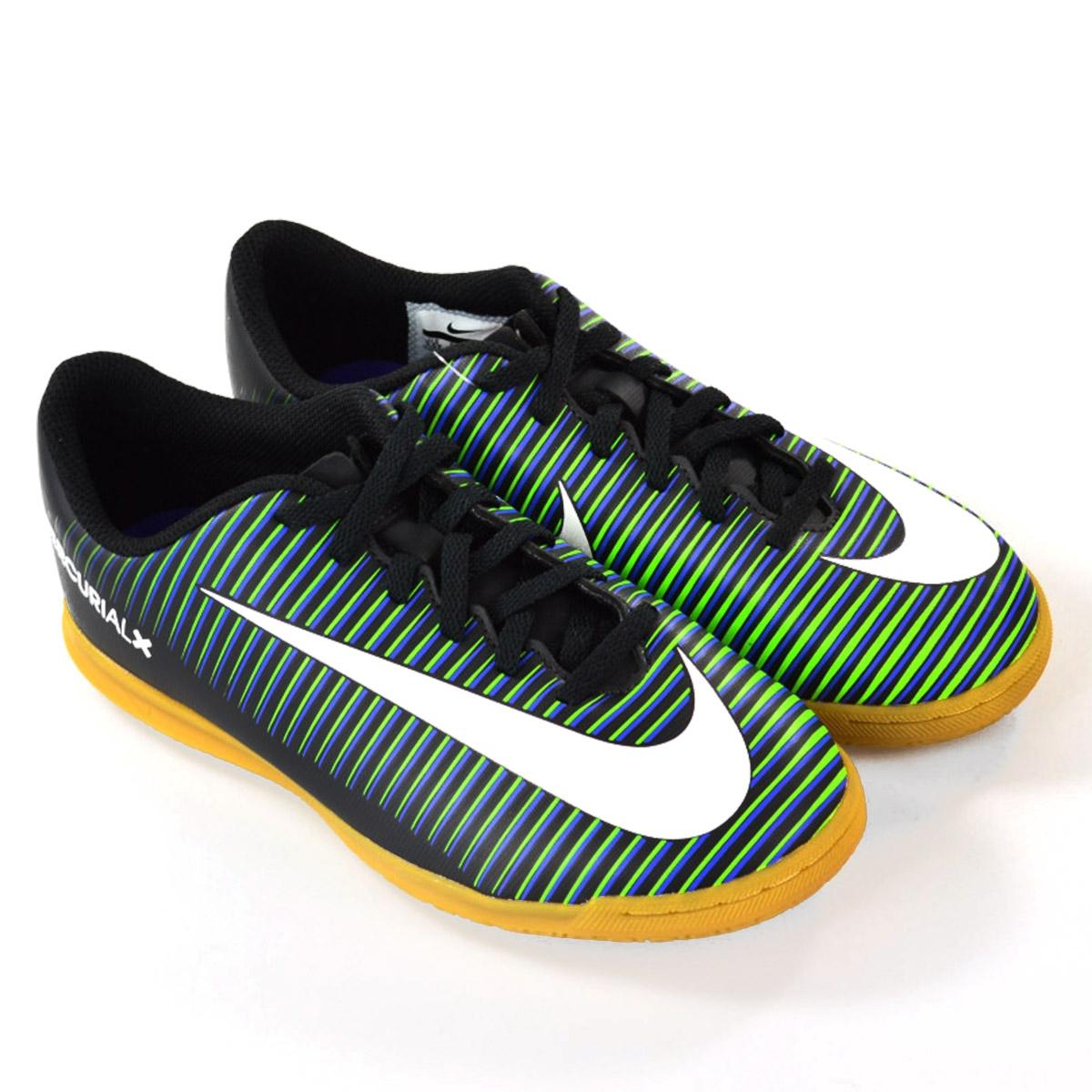 4a918f6e98 ... where to buy chuteira de futsal nike mercurialx vortex 3 ic nike preto  branco azul r