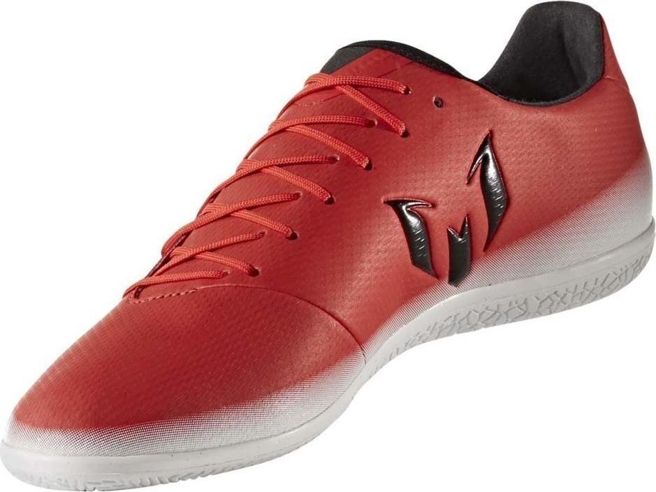 c6b5733b3be93 Chuteira futsal adidas messi 16.3 in masculina - vermelho e branco R$  179,90 à vista. Adicionar à sacola