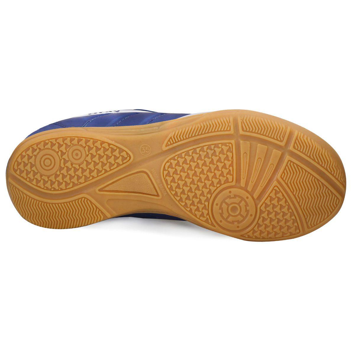 4ce6368079de9 Chuteira Futsal Dray Topfly IV Infantil 363 - Marinho Ouro - Tênis ...