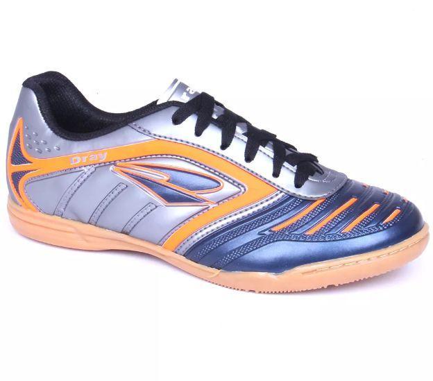 4f6f765995 Chuteira Futsal Dray Topfly IV Infantil - Chumbo Marinho - Tênis de ...