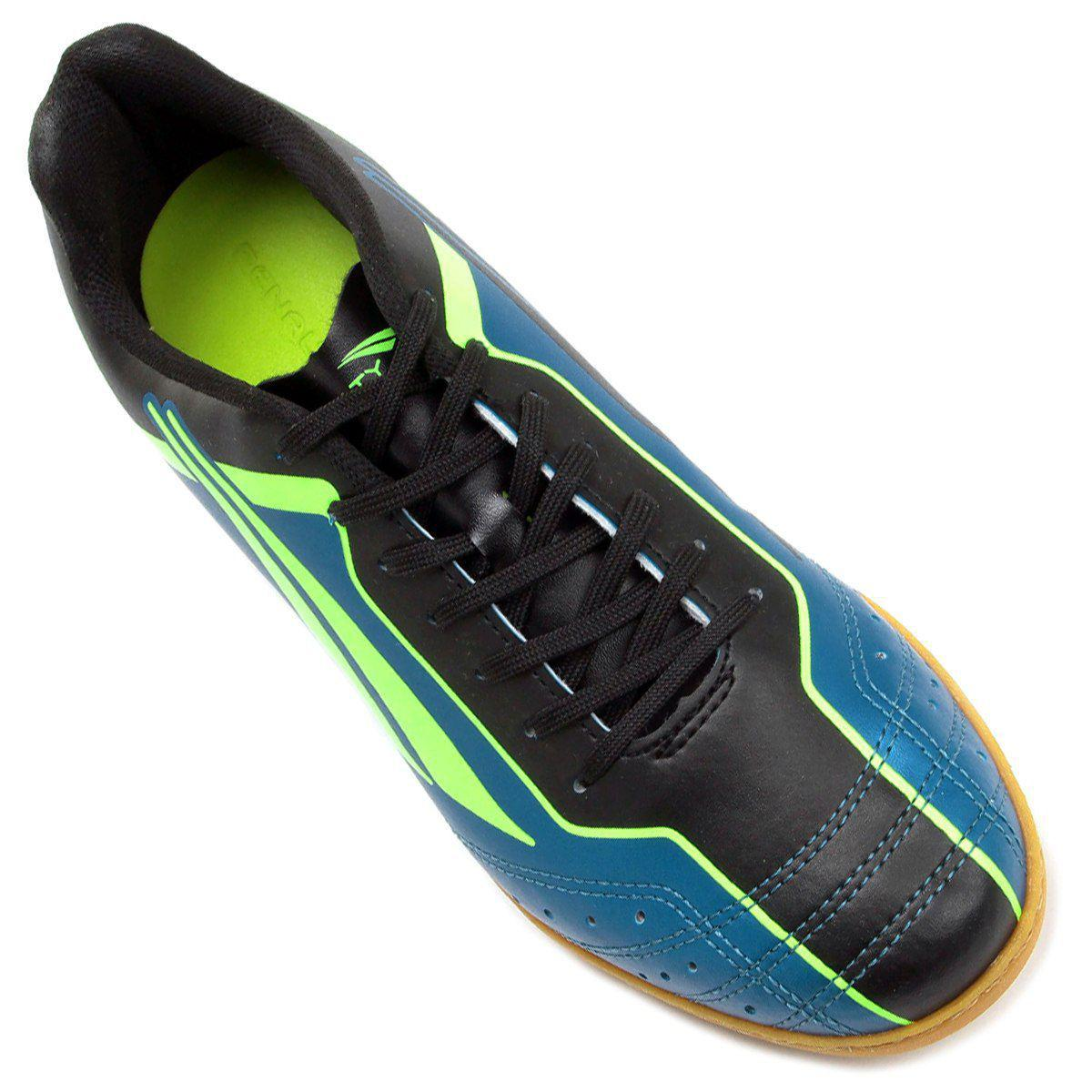 ae752ccb96 Chuteira Futsal Penalty Matis VI Masculino - Azul Verde - Chuteira ...