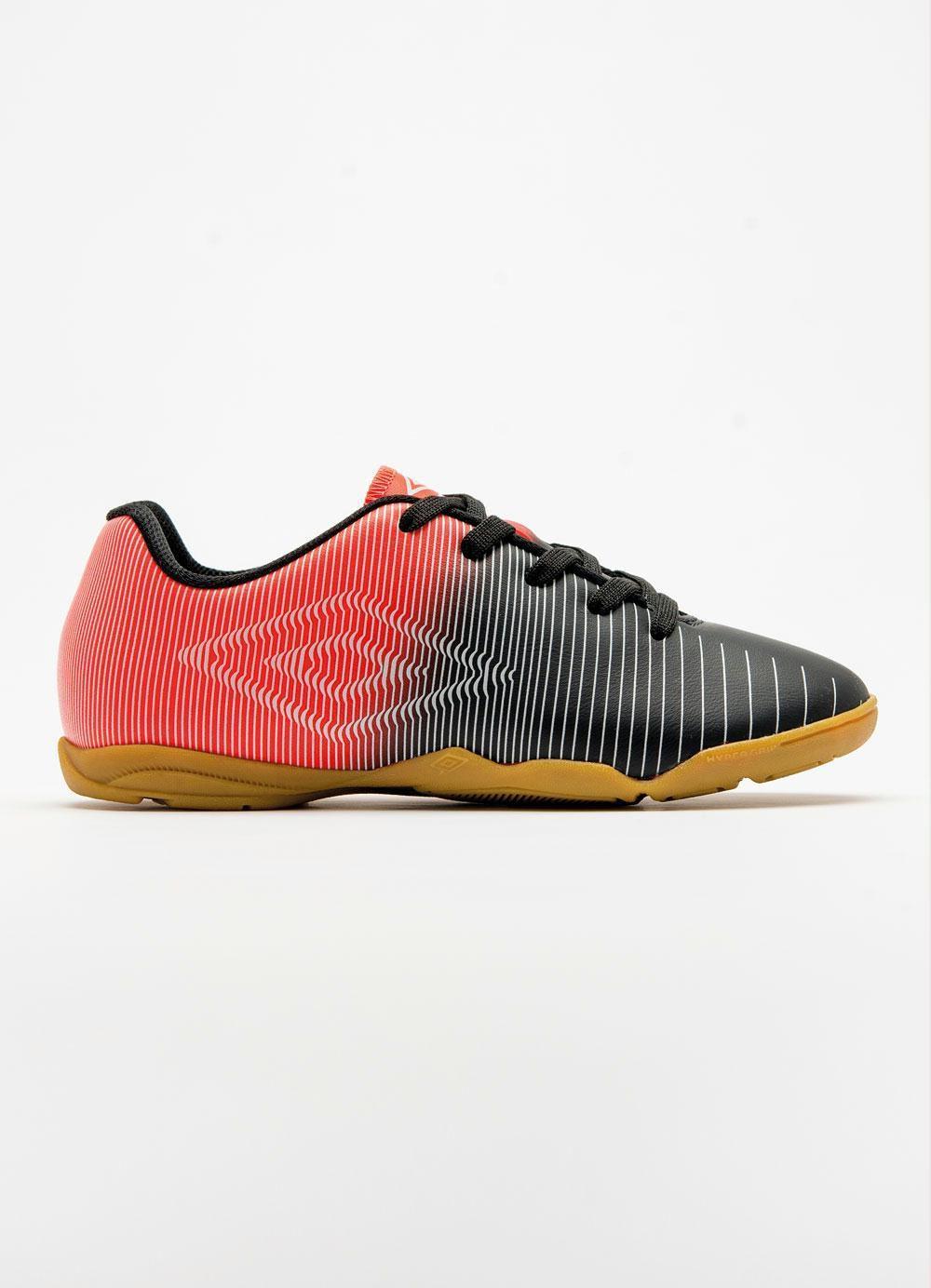 43f0aeb823e67 Chuteira Futsal Umbro Vibe Jr - Preto Laranja - Tênis de Futsal ...