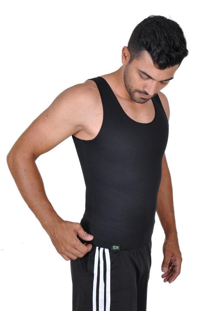 f89d85dd59 Cinta Emagrecedora MASCULINA Queima Gordura Less Now T-shirt Preta R   130
