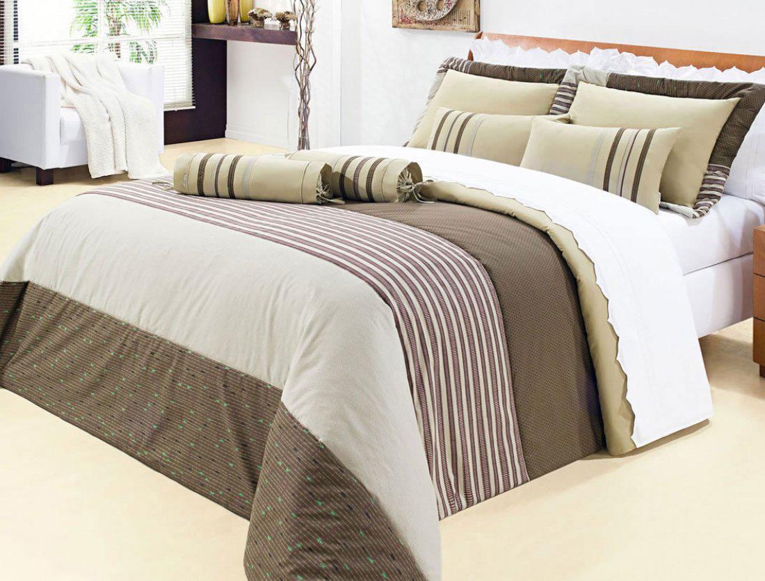 Colcha duet cama super king size em 200 fios com 11 pe a for Medidas de cama super king