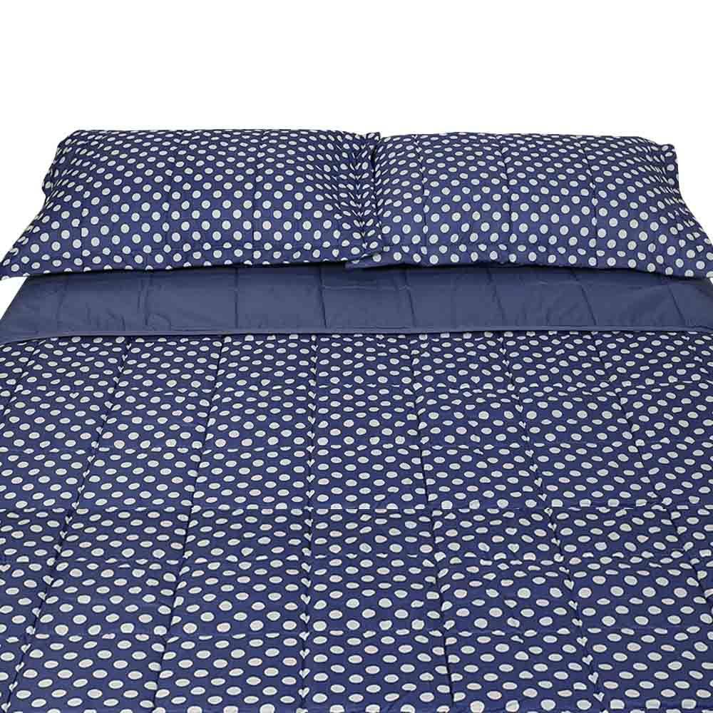 73bd5c0342 Colcha Queen com Porta Travesseiro Luma Joy Azul Indigo - Hedrons R  236