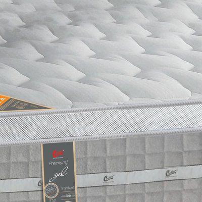 Imagem de Colchão Castor Solteiro Premium Gel Molas Pocket One Face 88x188x32cm