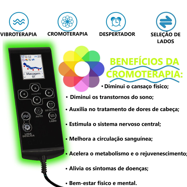 Colchão Magnético Casal Com Massageador Bioquântico e Cromoterapia ...