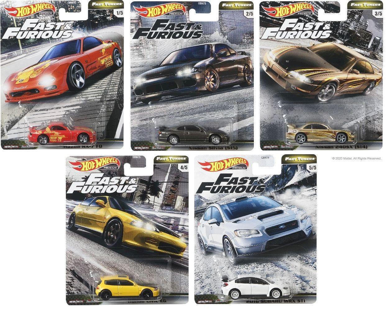 Colecao Completa Com 5 Miniaturas Fast Furious Velozes E Furiosos Fast Tuners 1 64 Hot Wheels Premium Carrinho De Brinquedo Magazine Luiza