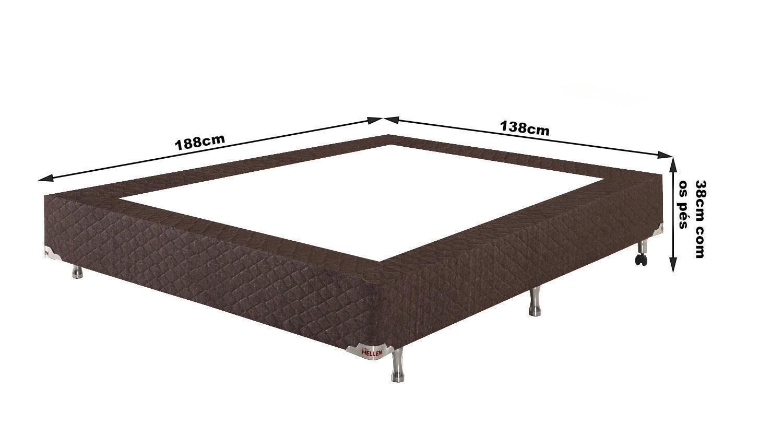 f889c84e15 Conjunto Cama Box Casal Houston Molas Ensacadas 138x188x72 Colchão + Cama  Box - Hellen colchões e estofados R  2.219