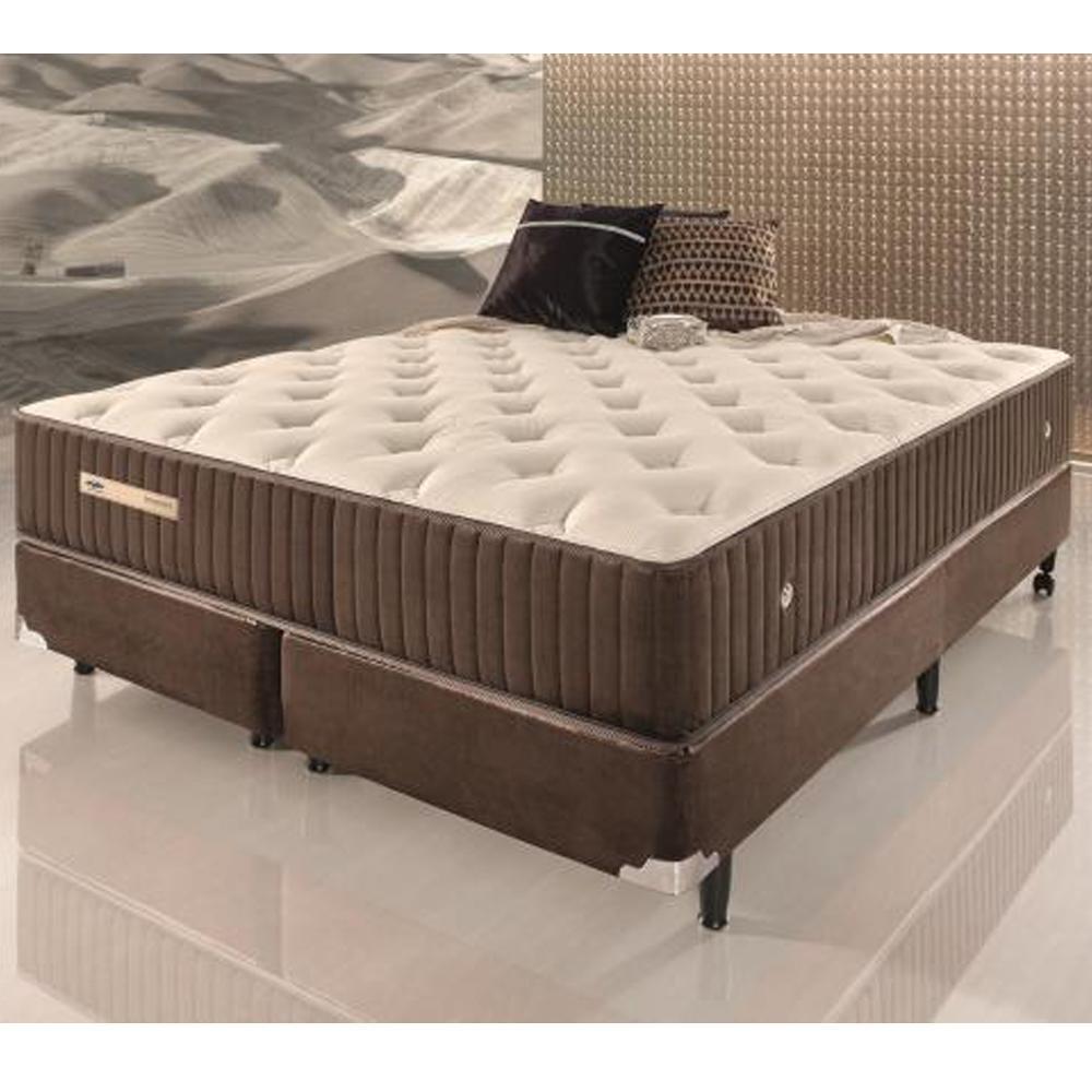 Conjunto cama box queen size de molas ecoflex sensazione 1 for Cama queen size vs king size