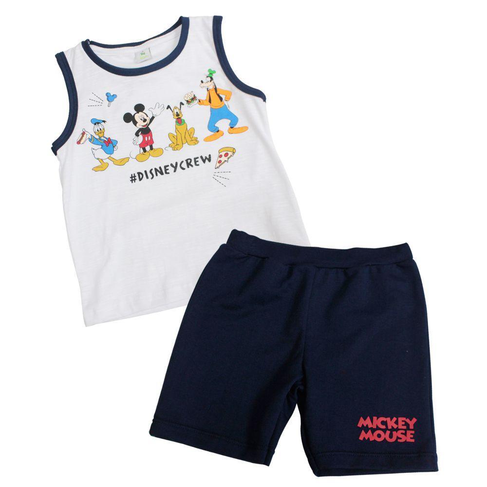 Conjunto Camiseta Machão e Bermuda Moletom - Mickey mouse - Disney R  39 ccdf110bfd2