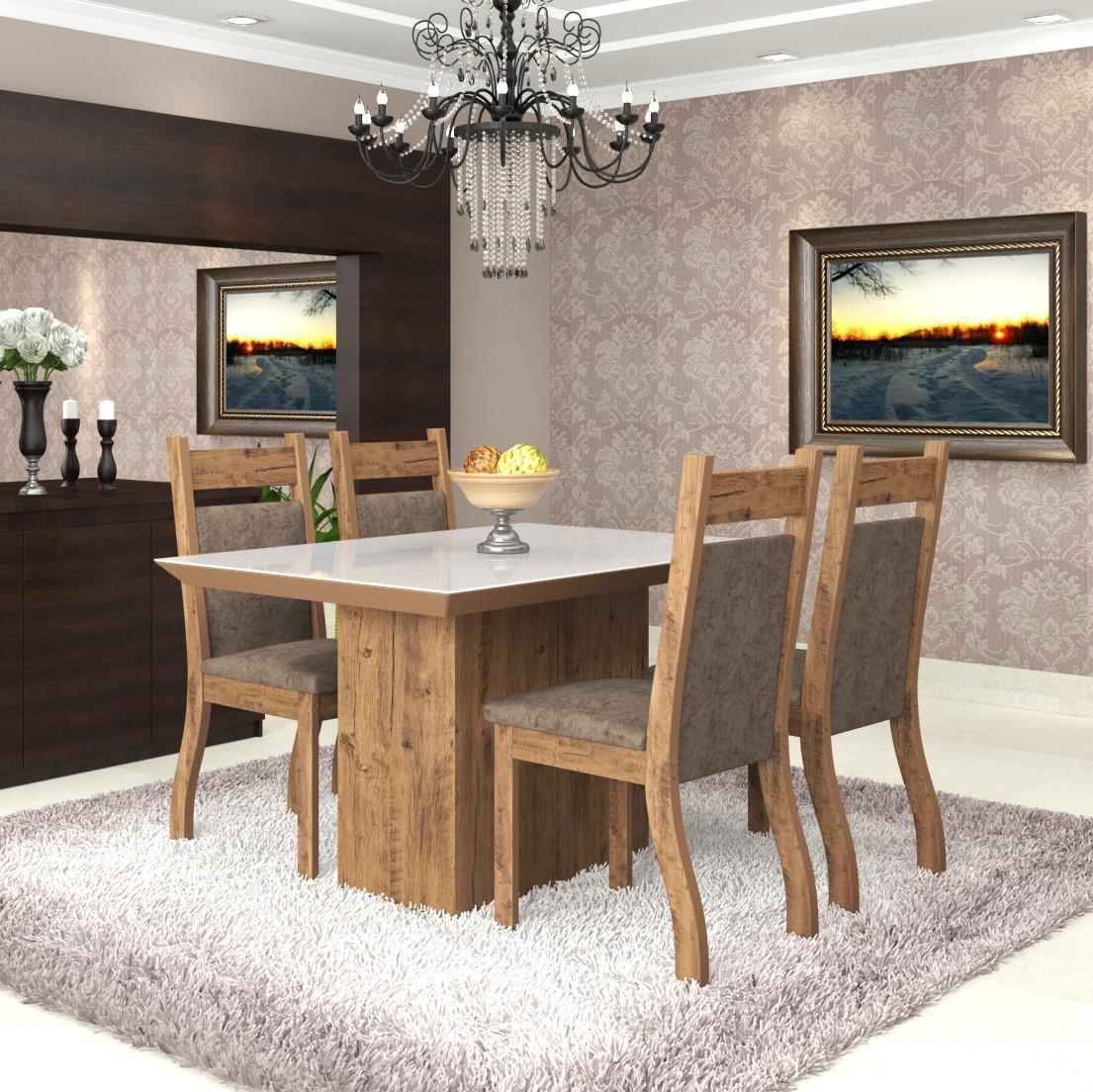 Conjunto de mesa para sala de jantar trend vidro branco 4 for Sala 2 conjunto de artes escenicas