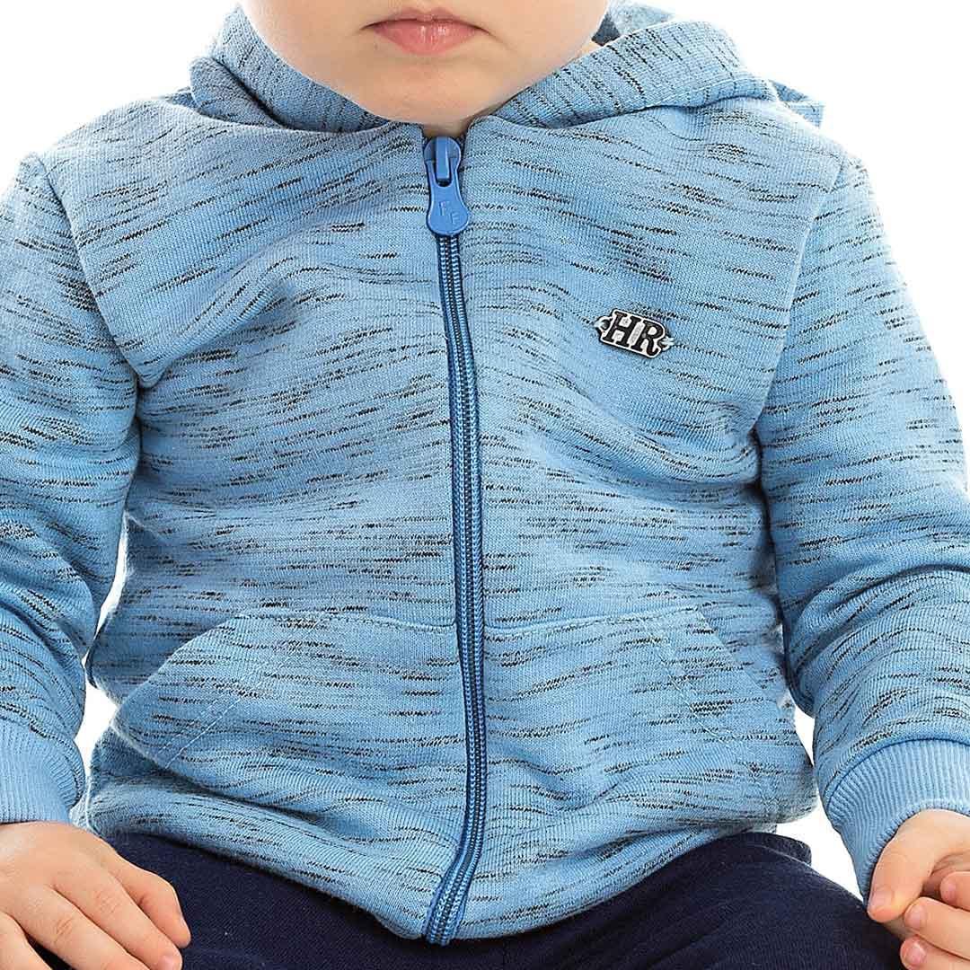 ae5f103b34d5dc Conjunto Moletom Bebê Calça e Blusa Azul - Hrradinhos