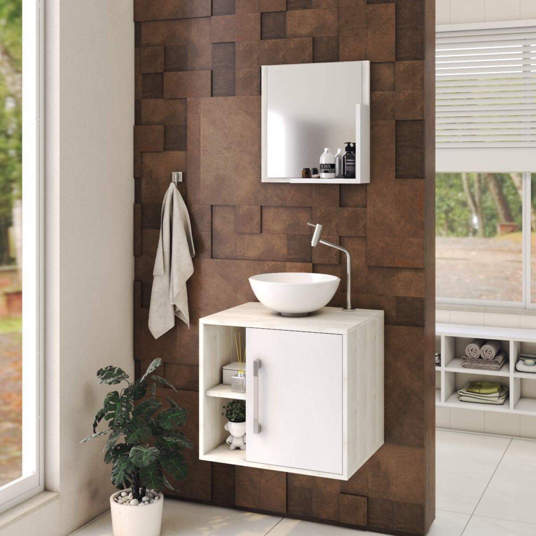 Conjunto Para Banheiro Gabinete Com Cuba Redonda R30 E Espelheira Soft 500w Compace Balcao Para Banheiro Gabinete Para Banheiro Magazine Luiza