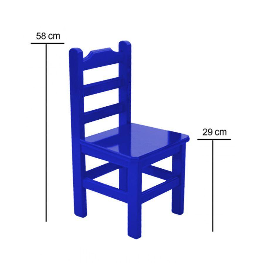 e77a2da206 Conjunto Pop Infantil Mesa 60x60 cm de Madeira Maciça Com 2 Cadeiras Azul -  Flex mesas e cadeiras R  499