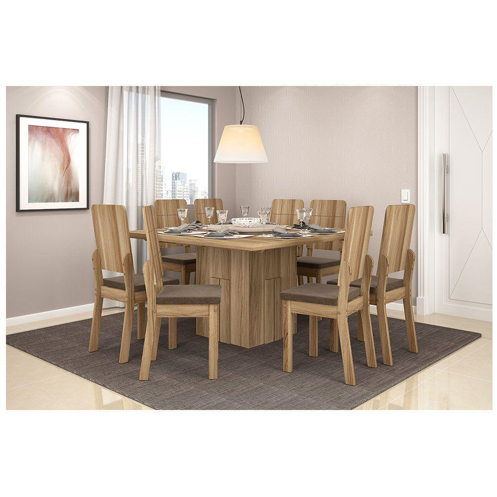 Conjunto sala de jantar mesa armonia com tampo girat rio e for Sala 2 conjunto de artes escenicas
